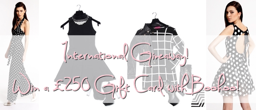 international giveaway £250 voucher boohoo