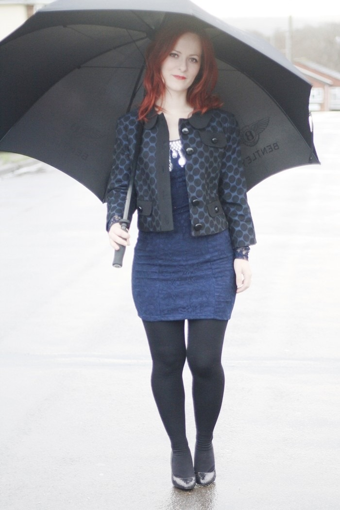 Outfit Navy Lace Dress (1)