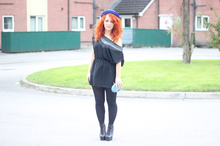 Outfit Black x Blue Rock Chick Glam (01)